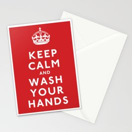 Keep Calm and Wash Your Hands Stationery Cards