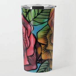 Silk Roses Travel Mug