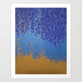 Blue and Gold 01 Art Print