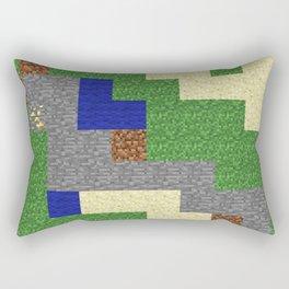 Pixel Craft Pattern Rectangular Pillow