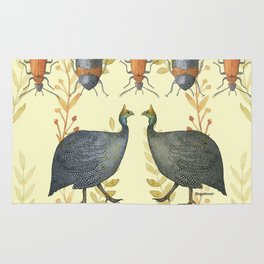 African Guineafowl Beetle Days - Bagaceous Rug
