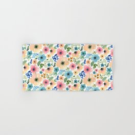 ANEMONE BLOOMS in bright colors Hand & Bath Towel