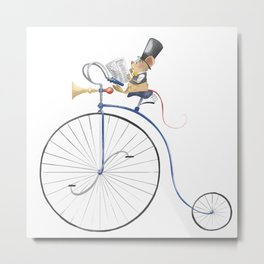 Mouseycle  Metal Print