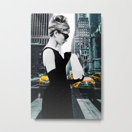 """Photo Montage """"Audrey in The City"""" Metal Print"""