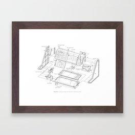 Korg MS-10 - exploded diagram Framed Art Print