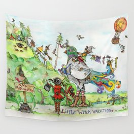 Little Witch Vacation Wall Tapestry