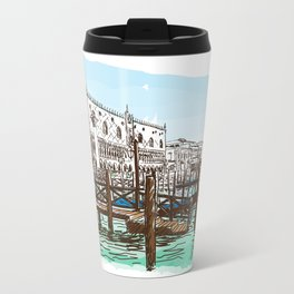 Sketches from Italy - Venice 03 Metal Travel Mug