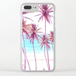Palm Beach Illustration Clear iPhone Case