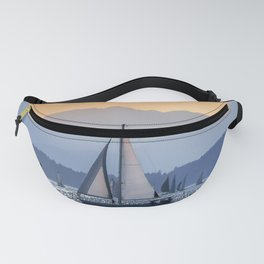 Sails Sea Mountains Fanny Pack