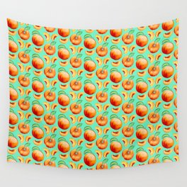 Peaches Pattern Wall Tapestry