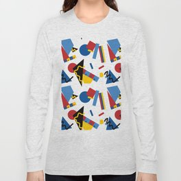 Postmodern Primary Color Party Decorations Long Sleeve T-shirt