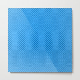 Sky Blue Scales Pattern Metal Print