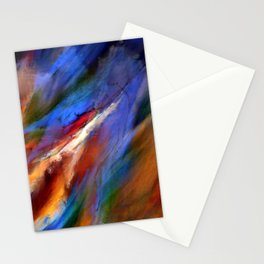 The Movement of Wind Digital Painting Stationery Cards