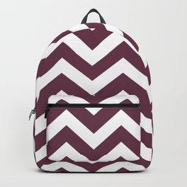 Wine dregs - violet color - Zigzag Chevron Pattern Backpack