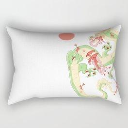 Dragon Battle Rectangular Pillow