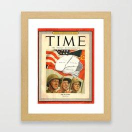 1945 Frontal Lobe Framed Art Print