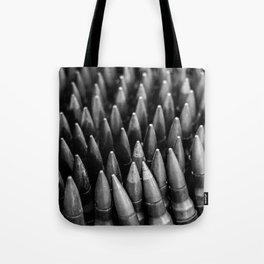 Rounds for Rounds Black and White Tote Bag