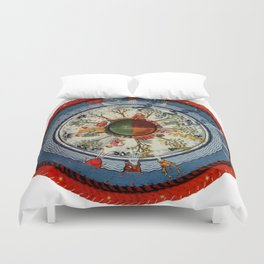 The Celestial Circle of Life Duvet Cover