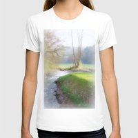 running T-shirts featuring Running Water by Laake-Photos