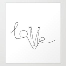 Man & LoveMe Art Print