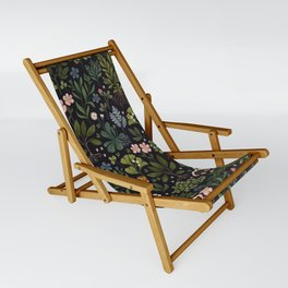 Herbarium ~ vintage inspired botanical art print ~ black Sling Chair