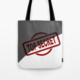 Top Secret Half Covered Ink Stamp Tote Bag