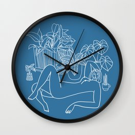 Nude act among friends Wall Clock