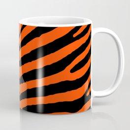 Orange Neon and Black Zebra Stripe Coffee Mug