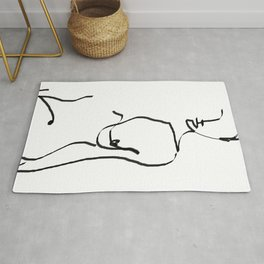 abstract nude Rug