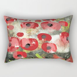 angela's poppies Rectangular Pillow