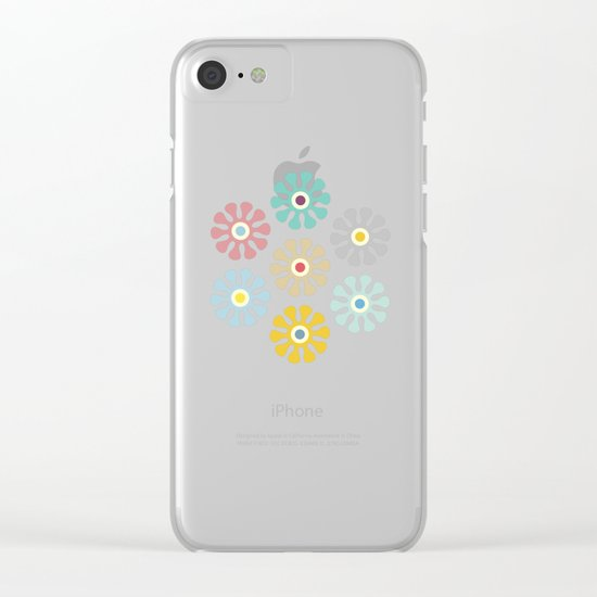 Lovely Pattern VIII Clear iPhone Case