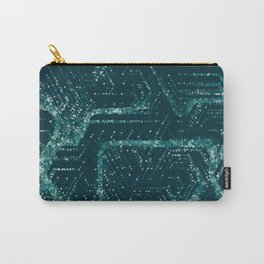 Teal and Triangles Carry-All Pouch