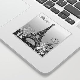 Eiffel Tower Paris (B/W) Sticker