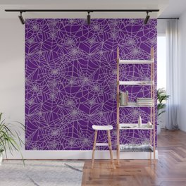 Purple Cobwebs Wall Mural