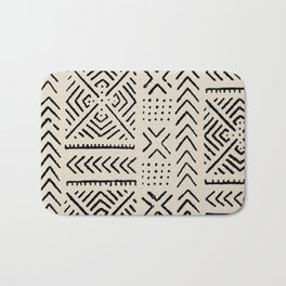 Line Mud Cloth // Bone Bath Mat