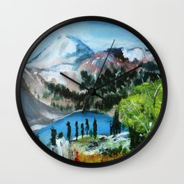 Mount Shuksan Acrylic Painting Wall Clock