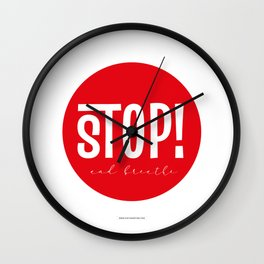 Stop! and Breathe Wall Clock