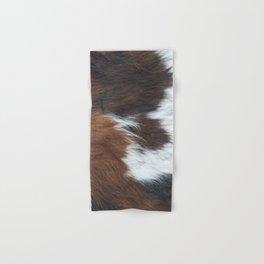 Faux fur, rustic cow hide detail Hand & Bath Towel