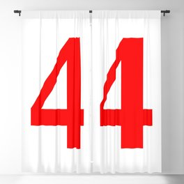 4 (RED & WHITE NUMBERS) Blackout Curtain
