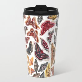 Saturniid Moths of North America Pattern Travel Mug