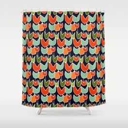Ruby's Tulips Shower Curtain