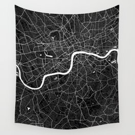 London - Minimalist City Map Wall Tapestry