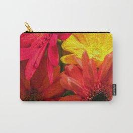 Sunny Daisy Flower Art Carry-All Pouch