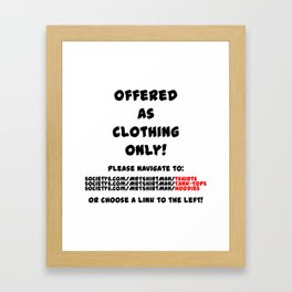 Overworked / Underfucked Framed Art Print