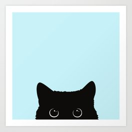 Black cat I Art Print