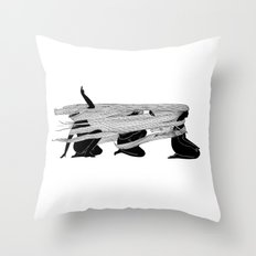 Face the wind Throw Pillow
