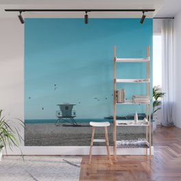 Birds and lifeguard Wall Mural