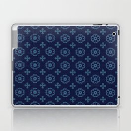 Blue Floral Laptop & iPad Skin