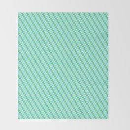 Turquoise Harlequin Pattern Throw Blanket