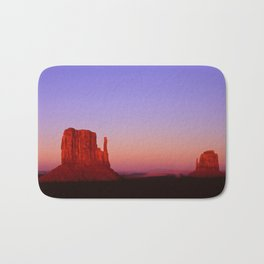 Sunset at Monument Valley Bath Mat